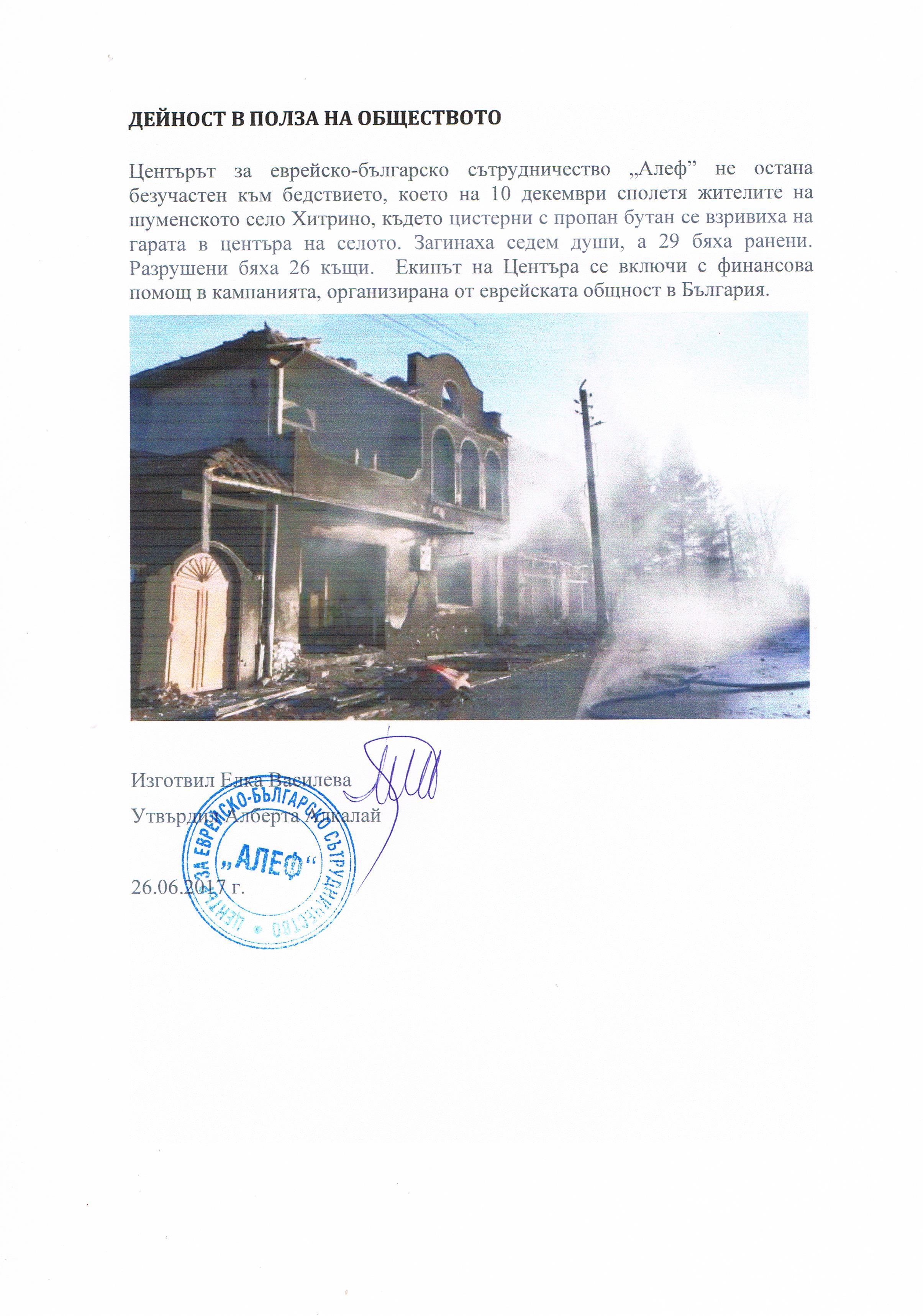 "Отчет за дейността на ""Алеф"" – 2016 година"